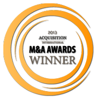 Winner of Acquisition International's 2013 M&A Award